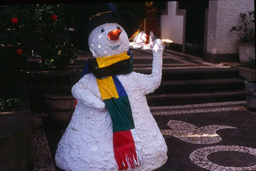 Snow Man on Madeira (Portugal).