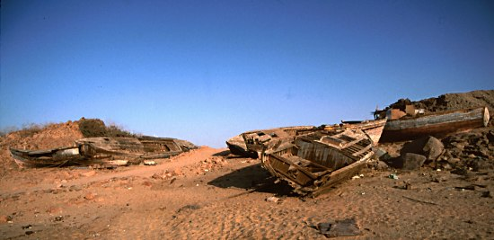 ship wrecks in Aswan, Egypt