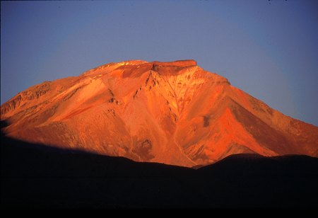 Sunset in the Andes, Chile