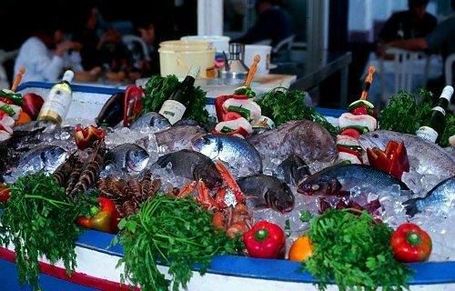 Fish in  Torremolinos, Andalusien (Spanien).