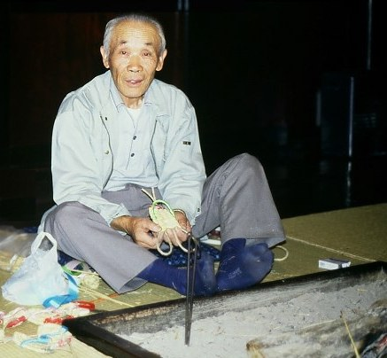 sandal maker, Hida Folk Village Takayama, Japan